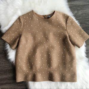 COS Wool Polka Dot Top Size 38 EU/8 US